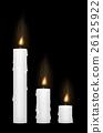 candle burning 26125922
