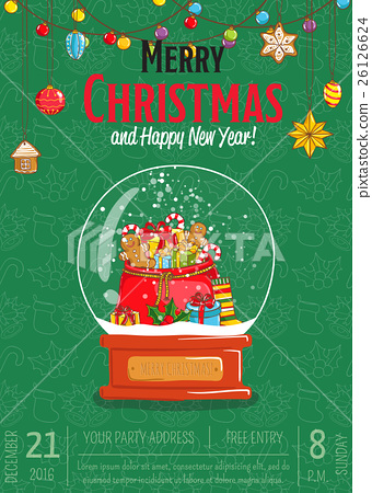 Merry Christmas Poster for Holiday Party Promo 26126624