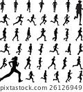 runner silhouette vector 26126949