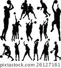 籃球 球 人影 26127161