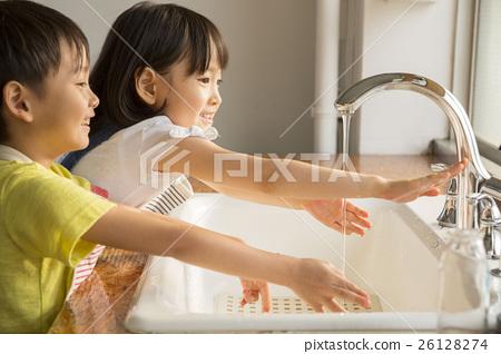 兒童洗手圖像 26128274