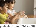 姐姐和弟弟 預防感冒 洗手 26128284
