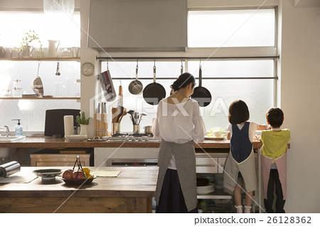부모와 자식 요리 이미지 26128362
