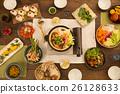 晚餐 餐桌 和食 26128633
