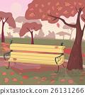 Autumn Landscape. Vector illustration. 26131266