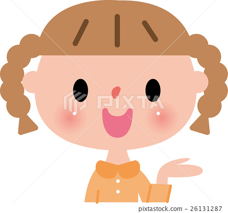 Girls elementary school children smile description 26131287