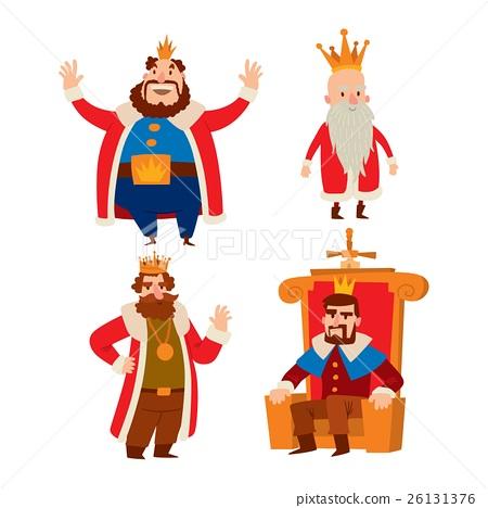 Kings cartoon vector set. 26131376