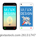 smartphone with ui and ux design on screen 26131747