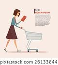 cart woman shopper 26133844
