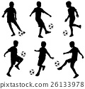 kids playing soccer 26133978