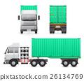 Trailer truck vector 26134769