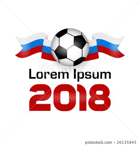 Stock Illustration: Logo Football Championship 2018