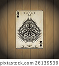 Ace of clubs poker cards old look  26139539