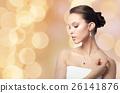 woman, jewelry, earring 26141876