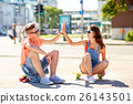 couple skateboard teen 26143501
