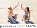 couple skateboard teen 26144297