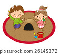 砂坑 儿童 孩子 26145372