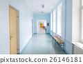 empty school corridor 26146181