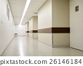 empty hospital corridor 26146184