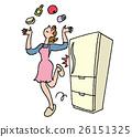 充滿生機的 媽媽 冰箱 26151325