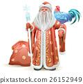 santa, rooster, bird 26152949