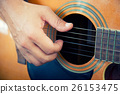 playing the guitar vintage effect. 26153475