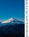 富士山 滑翔伞 冬 26155769