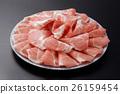 돼지 등심 슬라이스 접시 모듬 26159454