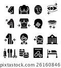 Plastic surgery icon set 26160846