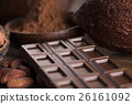 Chocolate bar, candy sweet, cacao beans and powder 26161092