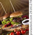 american, beef, burger 26161278