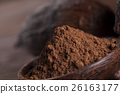 Chocolate bar, candy sweet, cacao beans and powder 26163177