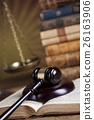 Law wooden gavel barrister, justice concept, legal 26163906