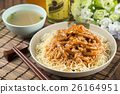 Traditional chinese bowl of rice vermicelli with 26164951