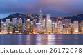 Hong Kong skyline at night 26172078