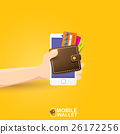 vector digital mobile e wallet vector concept 26172256