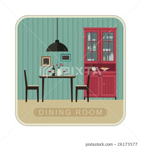 Dining room interior. 26173577