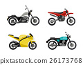 Motorcycles in flat style. 26173768