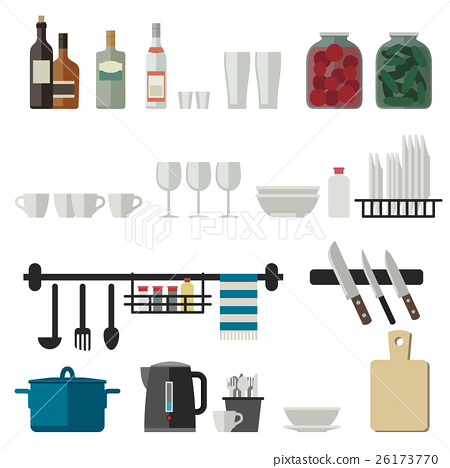Kitchenware flat icons 26173770