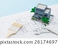 주택, 설계도, 청사진 26174697