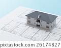 ภาพวาดบ้านและบ้าน 26174827