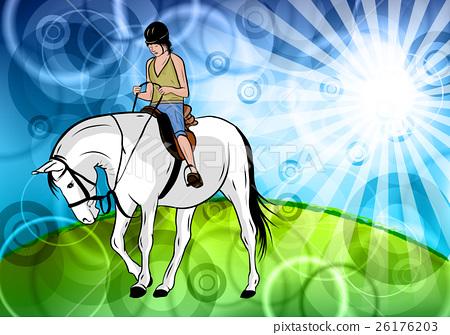 white horse 26176203