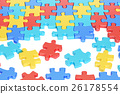 Puzzle Pieces in Autism Awareness Colors 26178554