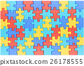 Puzzle Pieces in Autism Awareness Colors 26178555