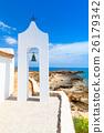 Agios Nikolaos. Small white Orthodox bell tower 26179342