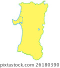 아키타 현, 지도, 아키타 26180390