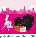 Shopping woman - Black Friday Sale card 26188202