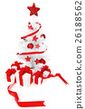 Christmas tree with red decor 26188562
