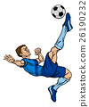 Cartoon Football Soccer Player 26190232