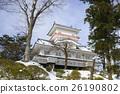 """久保田城堡Yamanobu Okumu Osumi-yagura""""前K的塔 26190802"""
